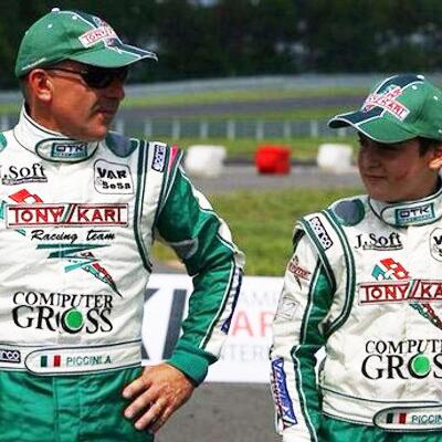 Alessandro Piccini e il figlio Alessio piccini anche lui Pilota Kart